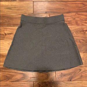 Women's LOFT elastic waist grey skirt